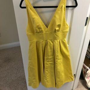 Lemon yellow J Crew dress